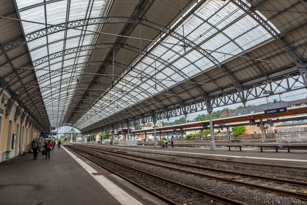 Lourdes France train station