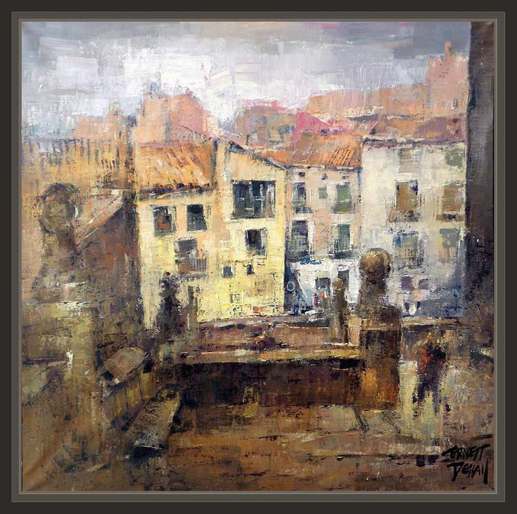 Ernest descals artista pintor bellpuig historia viajes premios pintura ajuntament ayuntamiento - Pintores en lleida ...