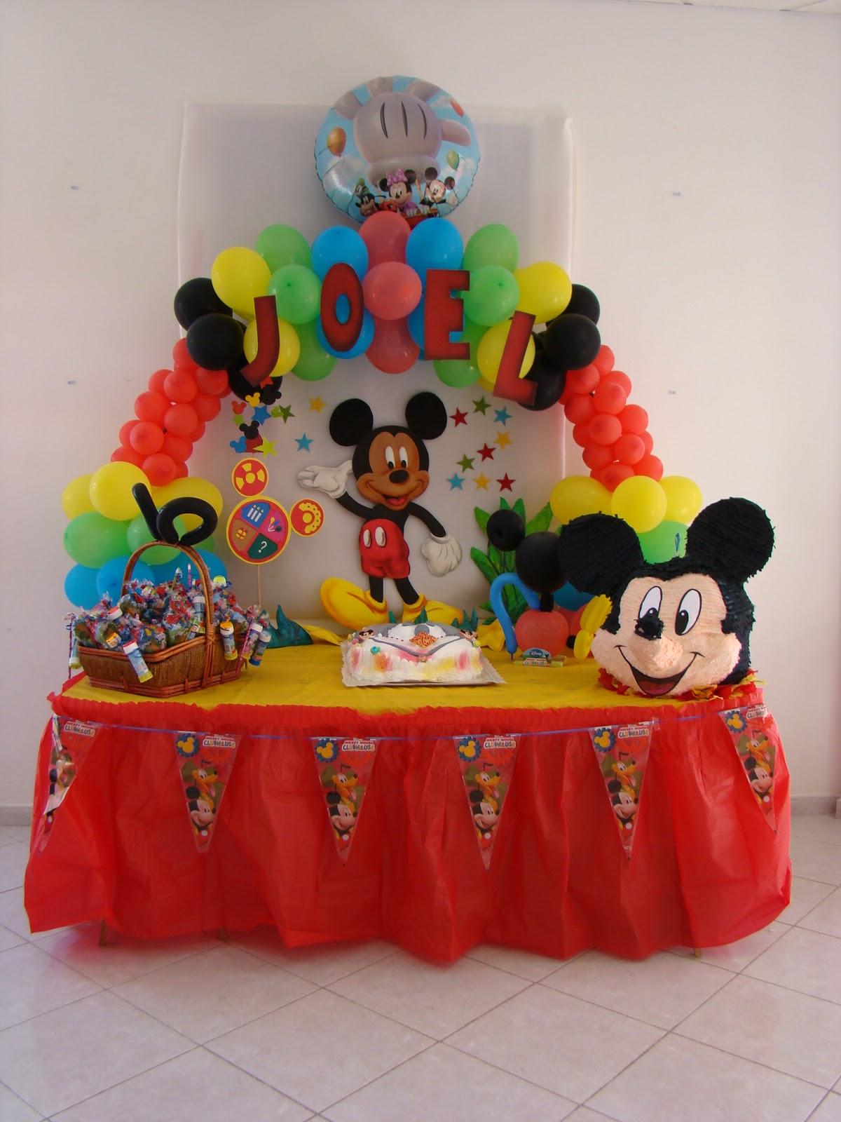 Ideas de cumplea os de mickey mouse thought mickey mouse - Decoracion para fiestas infantiles mickey mouse ...