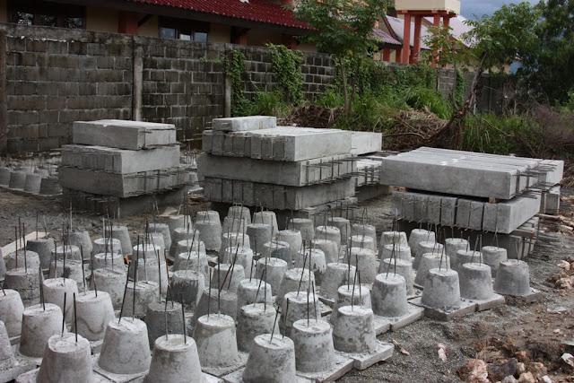 pondasi umpak dan sloof beton precast