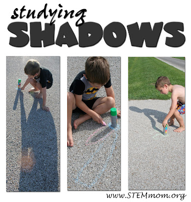 Tracing Shadows with PreK-K kids: Tracing shadows at different times of day: STEMmom.org