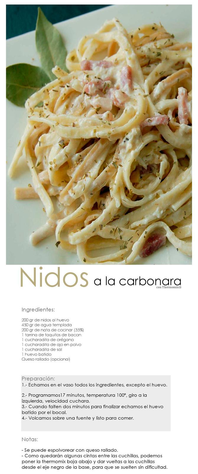 Nidos a la Carbonara