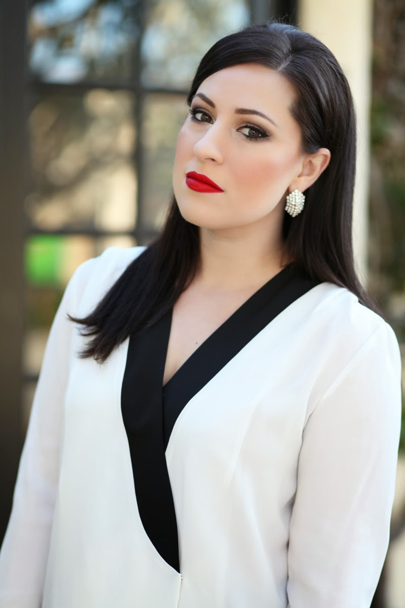 stila-beso-lipstick-beauty-blogger-san-diego-king-and-kind-2014-makeup-ideas-tuxedo-lapel-style-top
