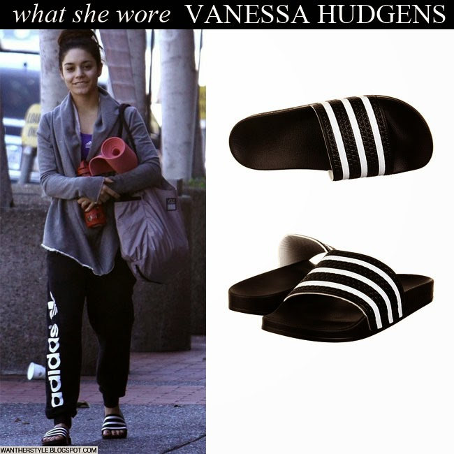 Stripe Hudgens With She Black What Vanessa In Sweatpants Open Wore xSBqUpw6Z