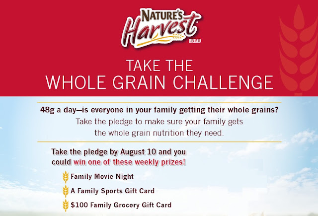Nature's Harvest Whole Grain Challenge sweepstakes