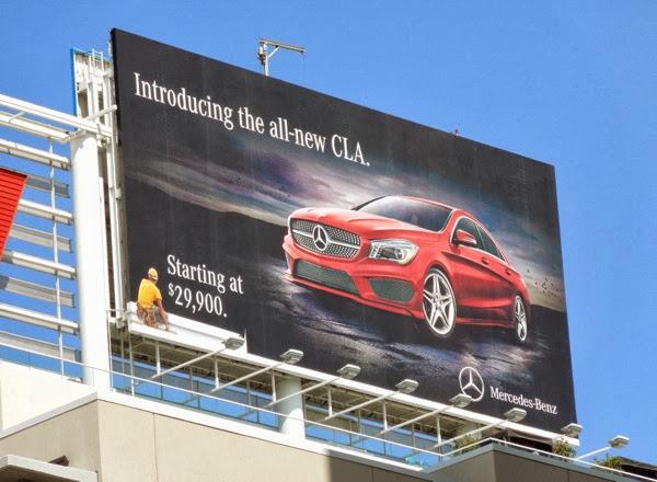 Introducing all-new CLA Mercedes-Benz billboard ad