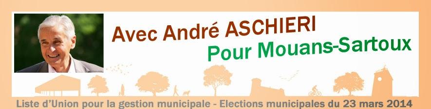 Avec André Aschieri pour Mouans Sartoux