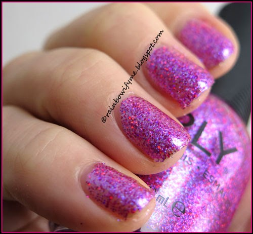Nail Polish Interesting: Sparkle Pink Holo Holographic