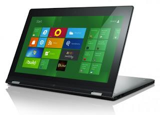 Lenovo Yoga Notebook Windows 8  Yang Dapat Diputar 360 Derajat