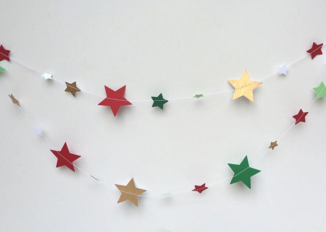 Preparando la navidad papeles peque os - Guirnaldas navidad manualidades ...