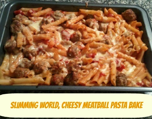 A Matter Of Choice My Best Slimming World Recipe Ever Cheesy Meatball Pasta Bake