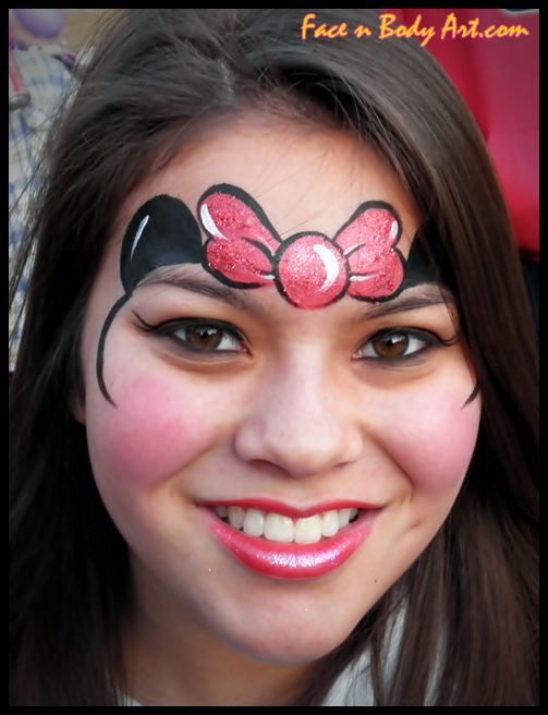 Minnie mouse | Adult Face Paint Designs | Pinterest