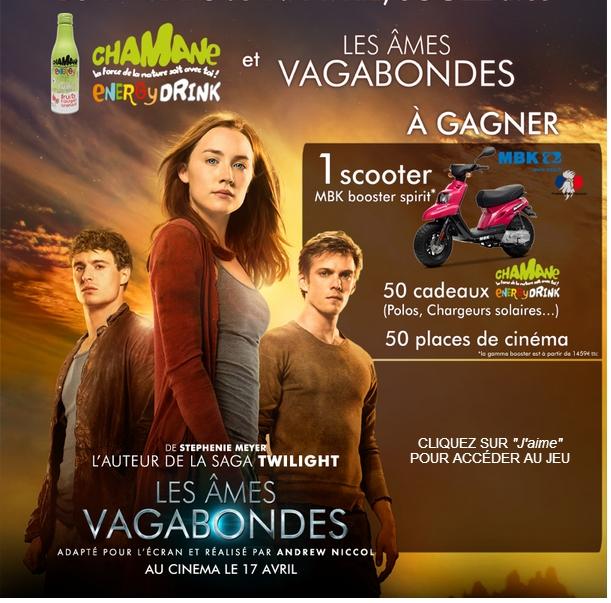50 places de cinéma pour le film Les Âmes Vagabondes + 1 scooter + 50 divers cadeaux