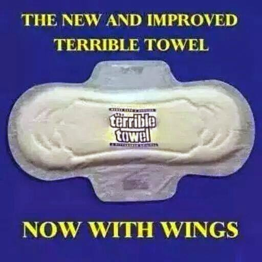 the new and improved terrible towel. now with wings