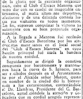 Festival ajedrecista en Manresa en 1933 (2)