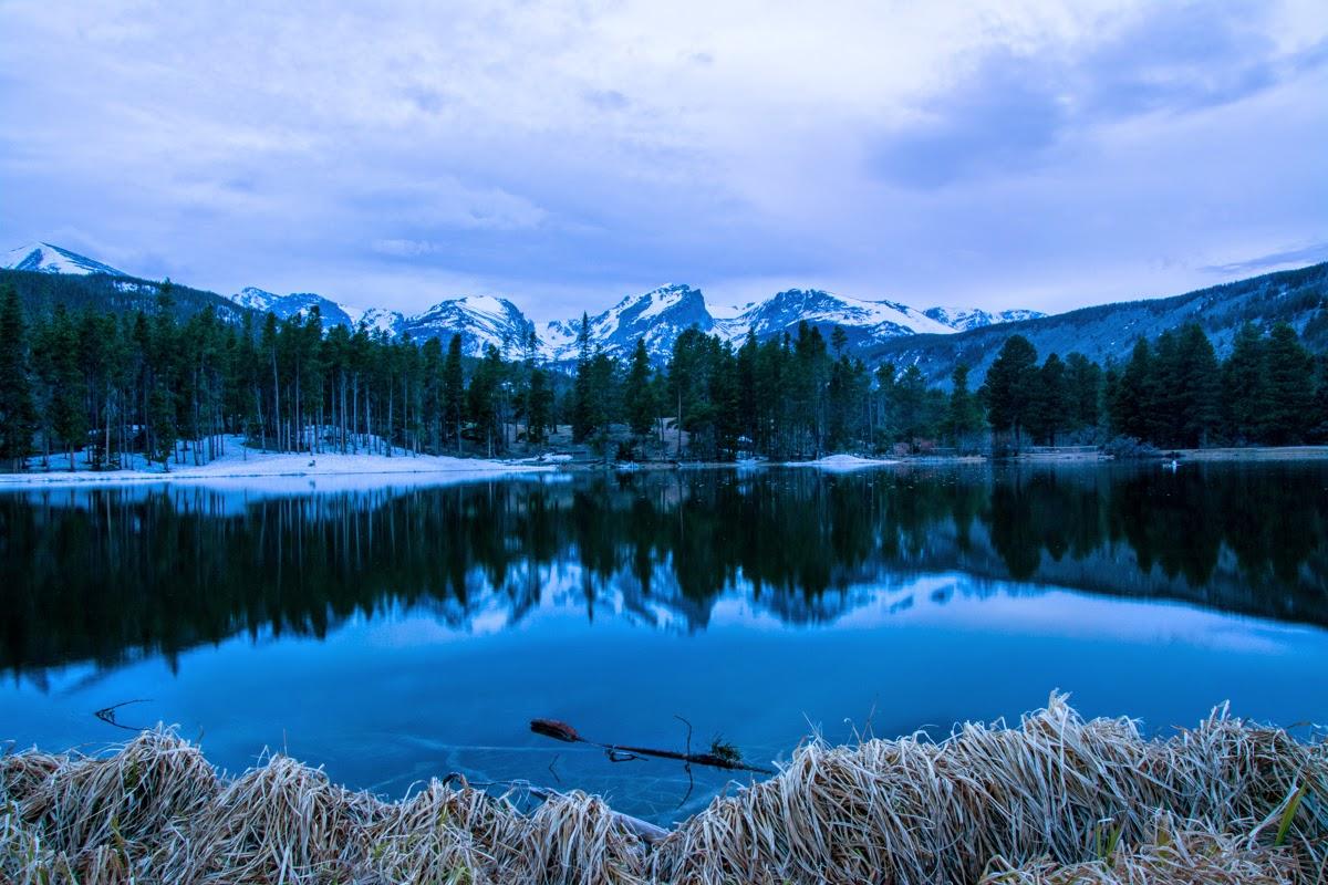 Sunset at Sprague Lake, Rocky Mountain National Park