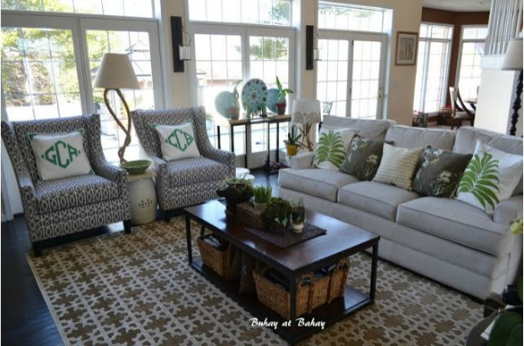 Spring Green Living Room Decor