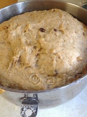 Dough after 1st rise