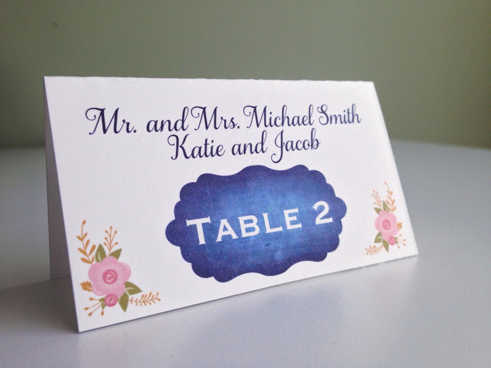 Chalkboard Wedding Escort Cards - great for a garden party or rustic wedding