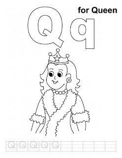 q is for queen coloring page  Is For Queen Coloring