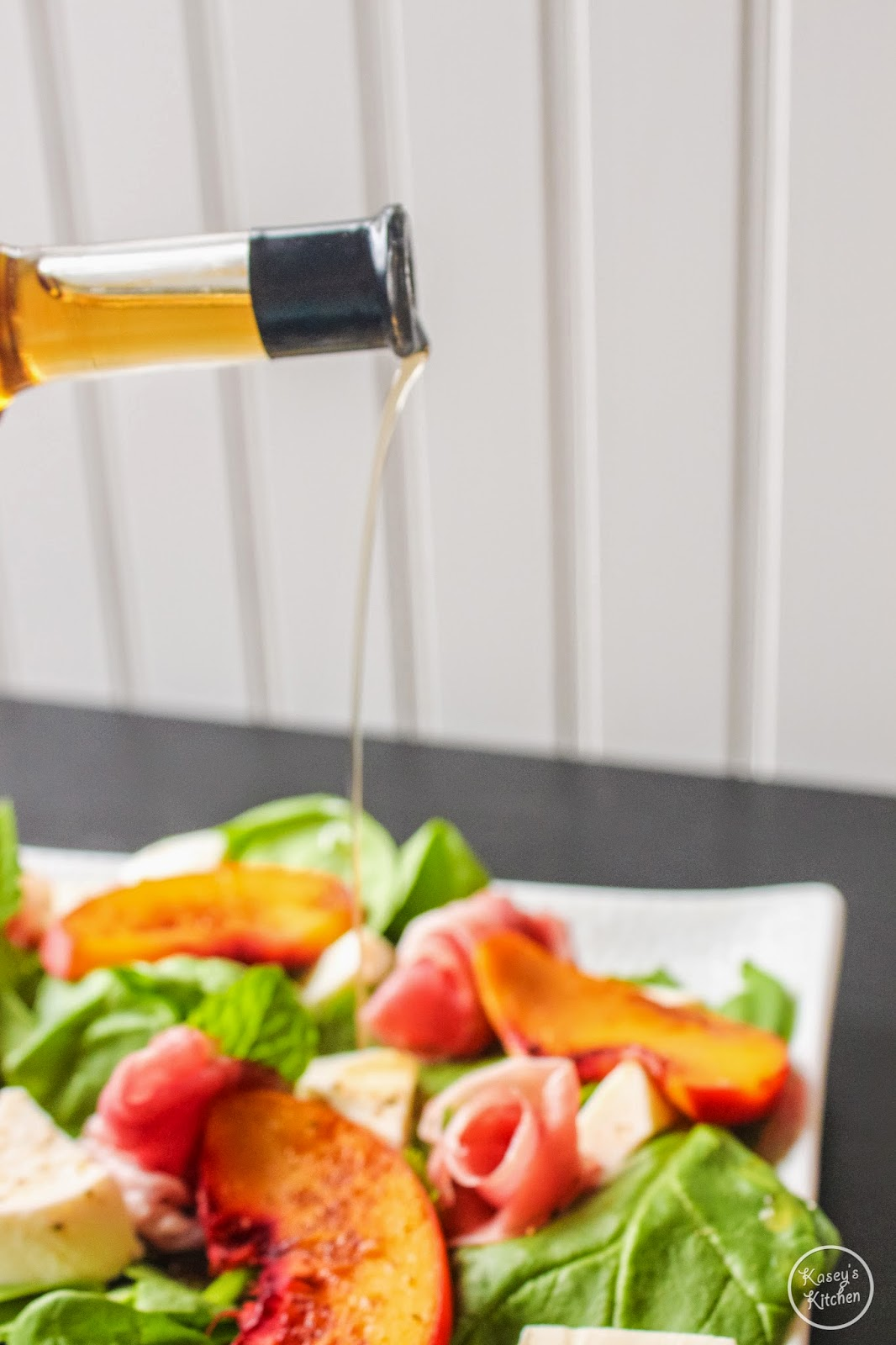 Kasey\'s Kitchen: Caramelized Peach Salad Recipe