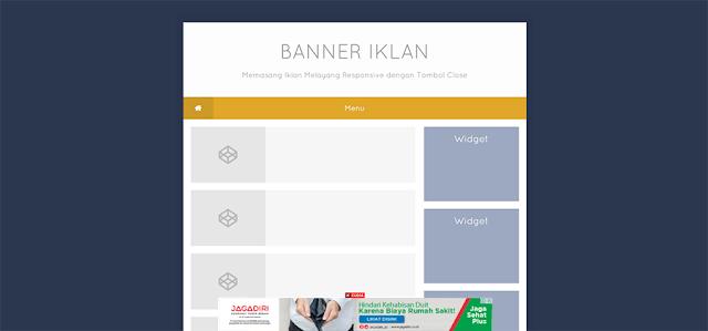 Cara Memasang Iklan Google Adsense Melayang Responsive dengan Tombol Close di Blog