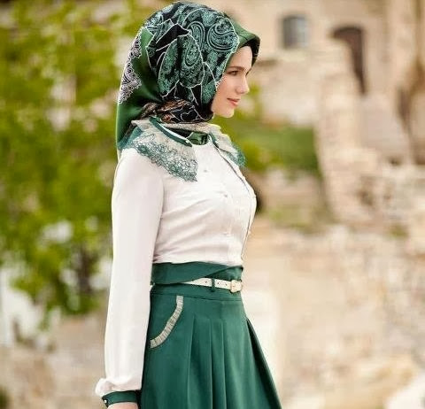 model hijab pashmina kantor