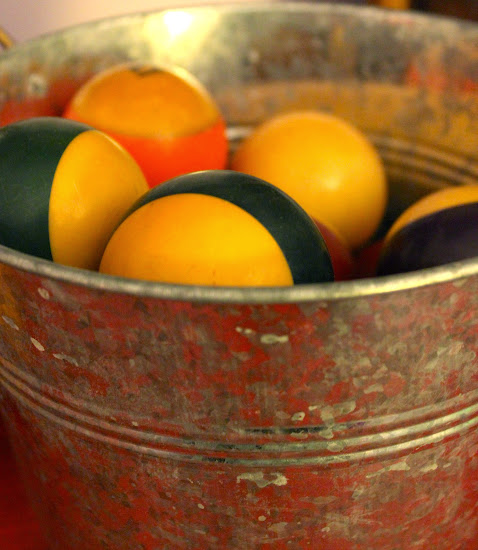 vintage pool balls as decor thrift store man cave