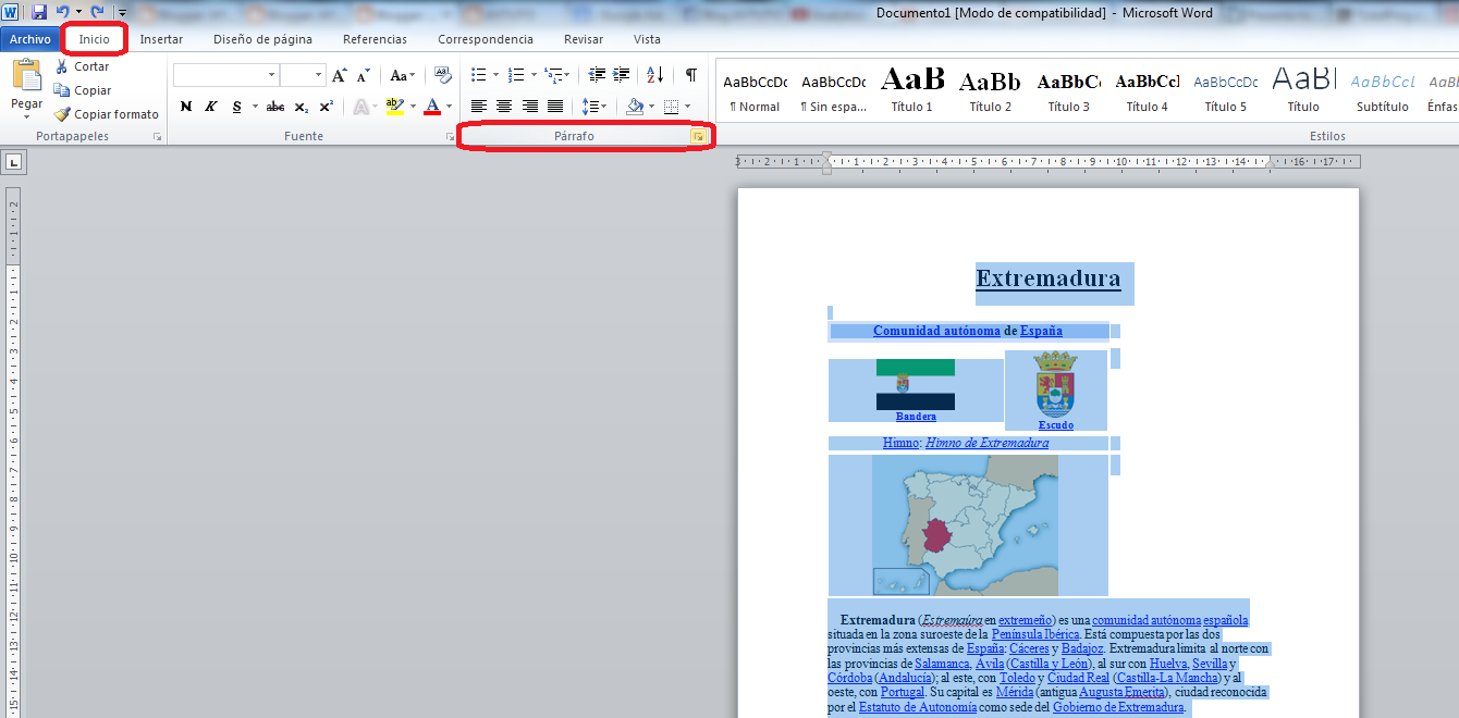 Aytuto aplicar interlineado doble a un texto en word for En word cual es el interlineado