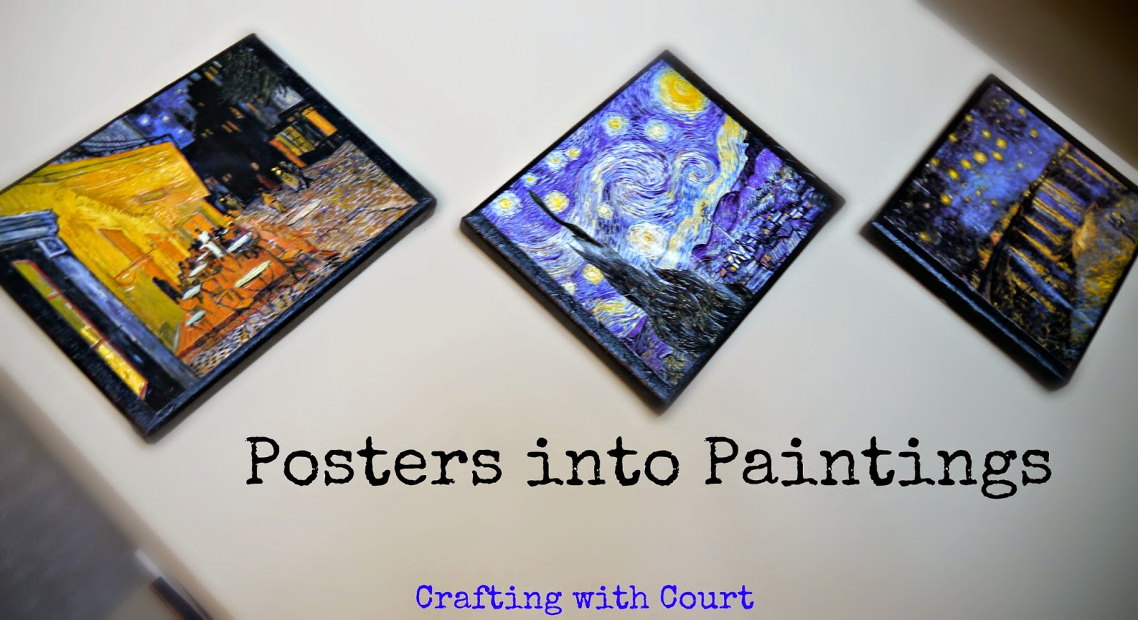crafting with court posters into paintings