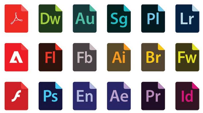 Adobe File Type Icons