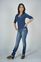 Yami Gautam in Beautiful Pics Denim Jeans and Blue T-Shirt in Yuddam Movie