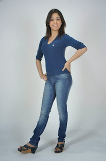 Yami Gautam in Beautiful Pics Denim Jeans and Blue T Shirt in Yuddam Movie