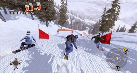 Gameplay Shaun White Snowboarding
