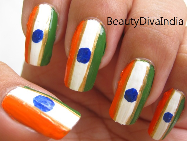 Independence day nail art tri color inspired beautydiva india independence day nail art tri color inspired prinsesfo Image collections