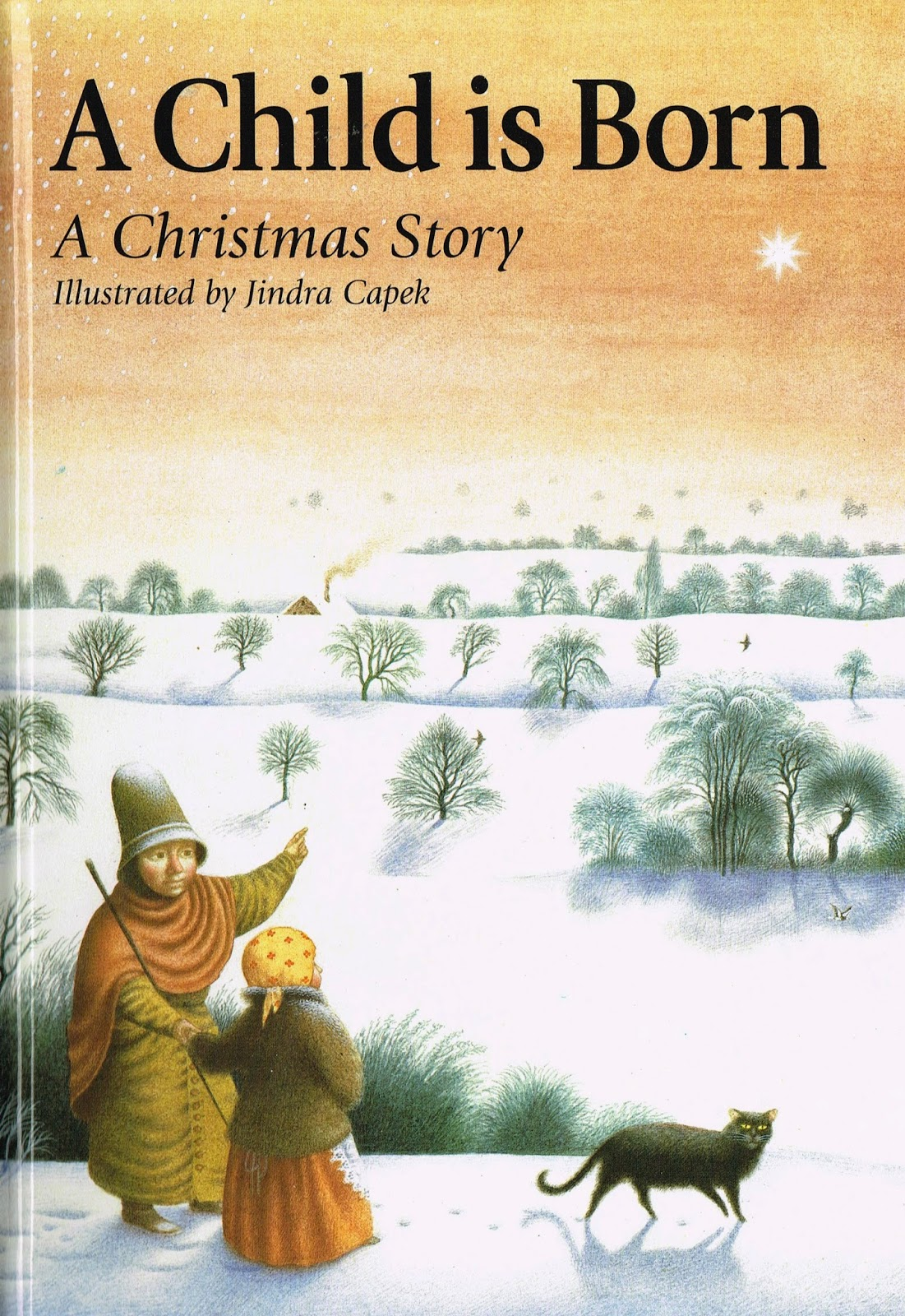 children\'s book illustrations: A child is born, a Christmas Story ...