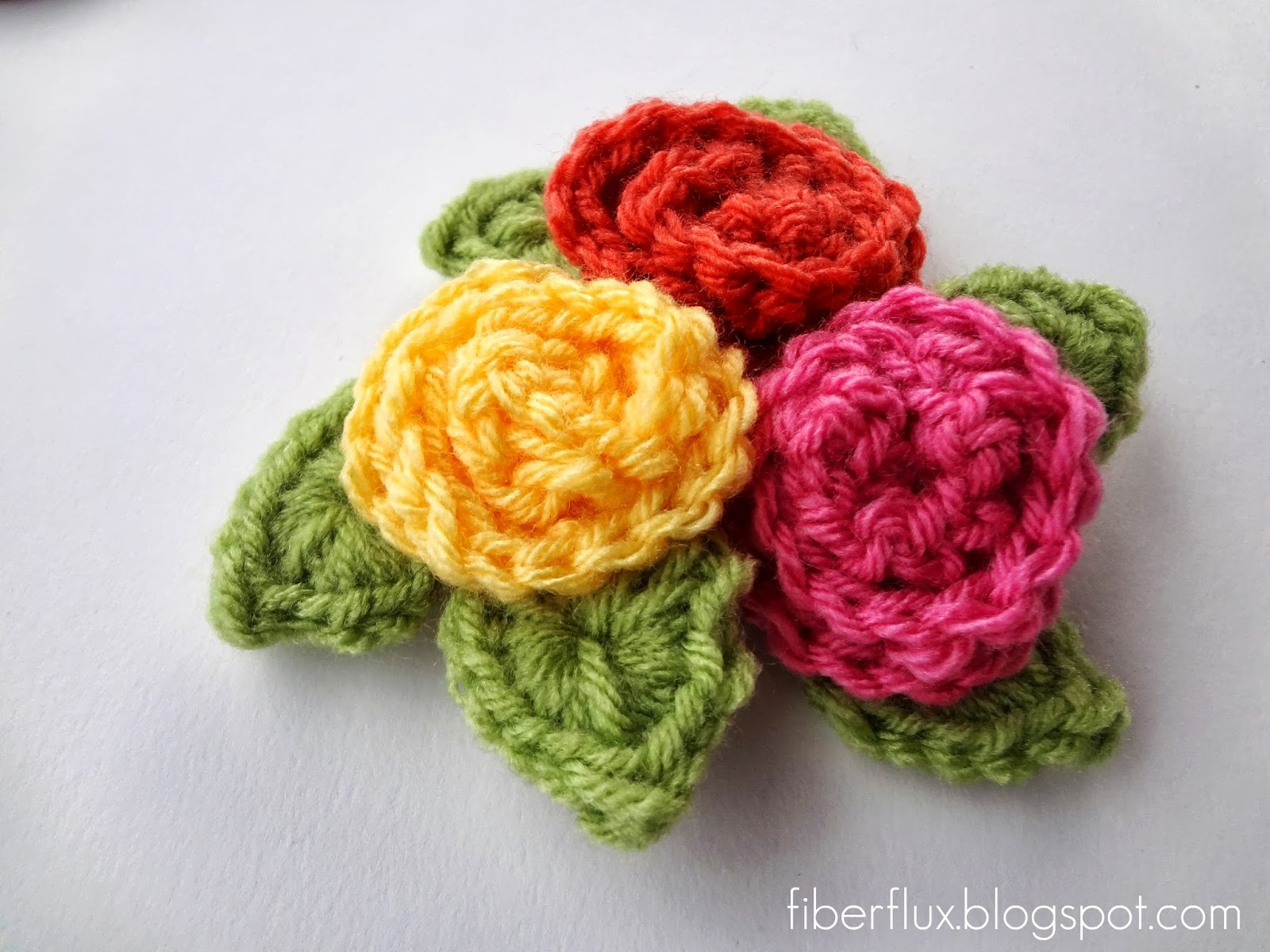 Crochet Rose : Fiber Flux: How To Crochet A Curlicue Rose
