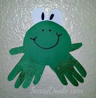 little frog handprint craft