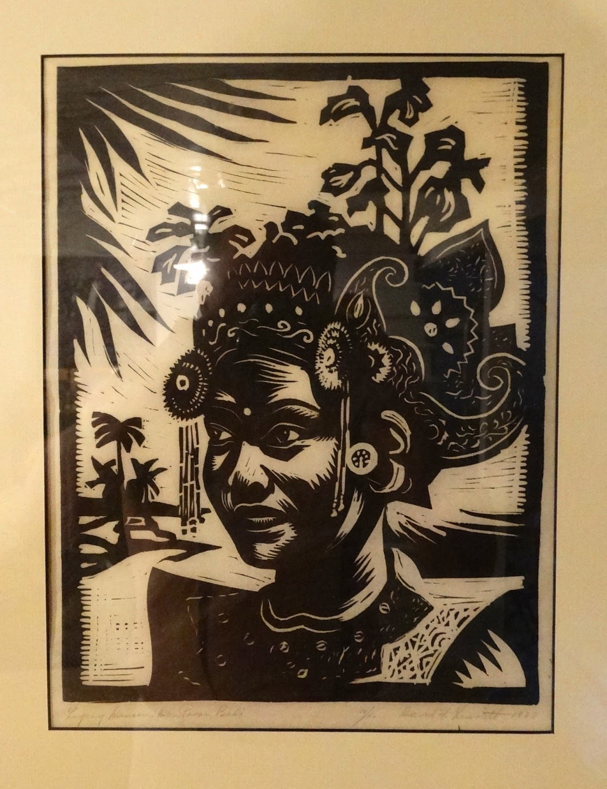 woodblock print titled bali by david franklin leavitt born in st louis in 1897 pencil signed number 10 of 50 dated 1937 david franklin leavitt was