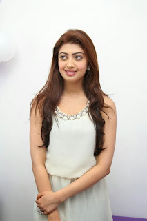 Actress Pranitha Pictures in White Dress at Homeo Trend Super Speciality Hospital Launch 0080