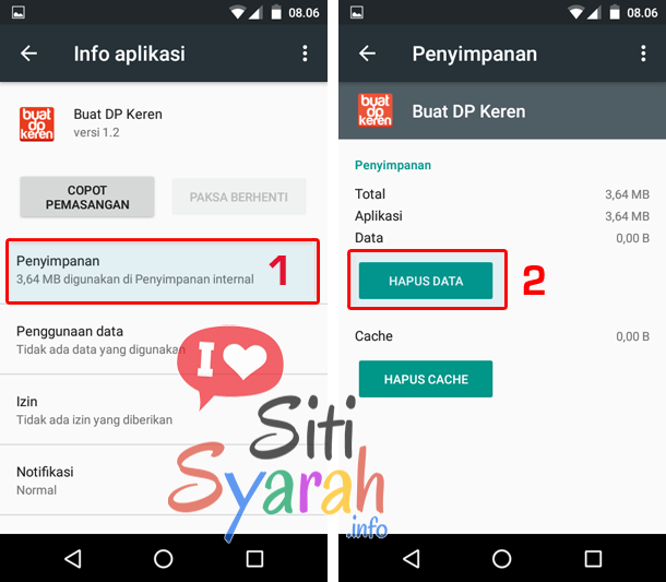 cara clear data aplikasi android