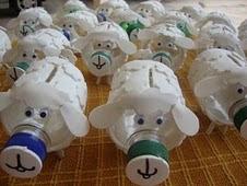 cofrinho ovelhinha de pet