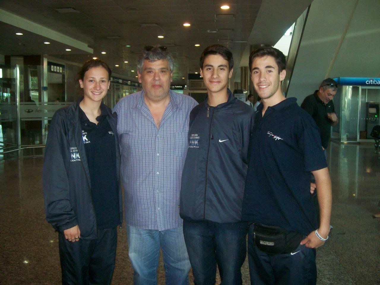 Recibimos a los cordobeses que fueron al Mundial de Karate de Polonia