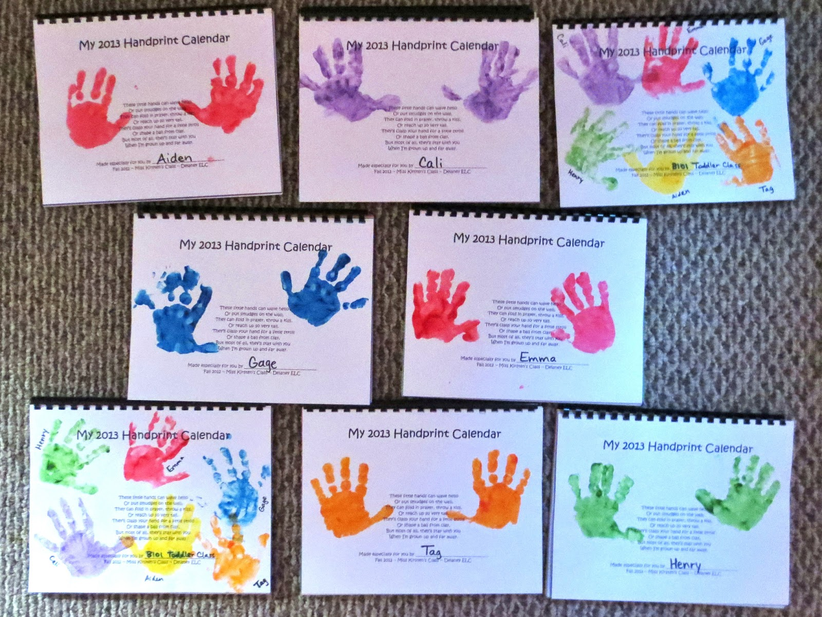 Princesses, Pies, & Preschool Pizzazz: Bible Verse Handprint Calendar