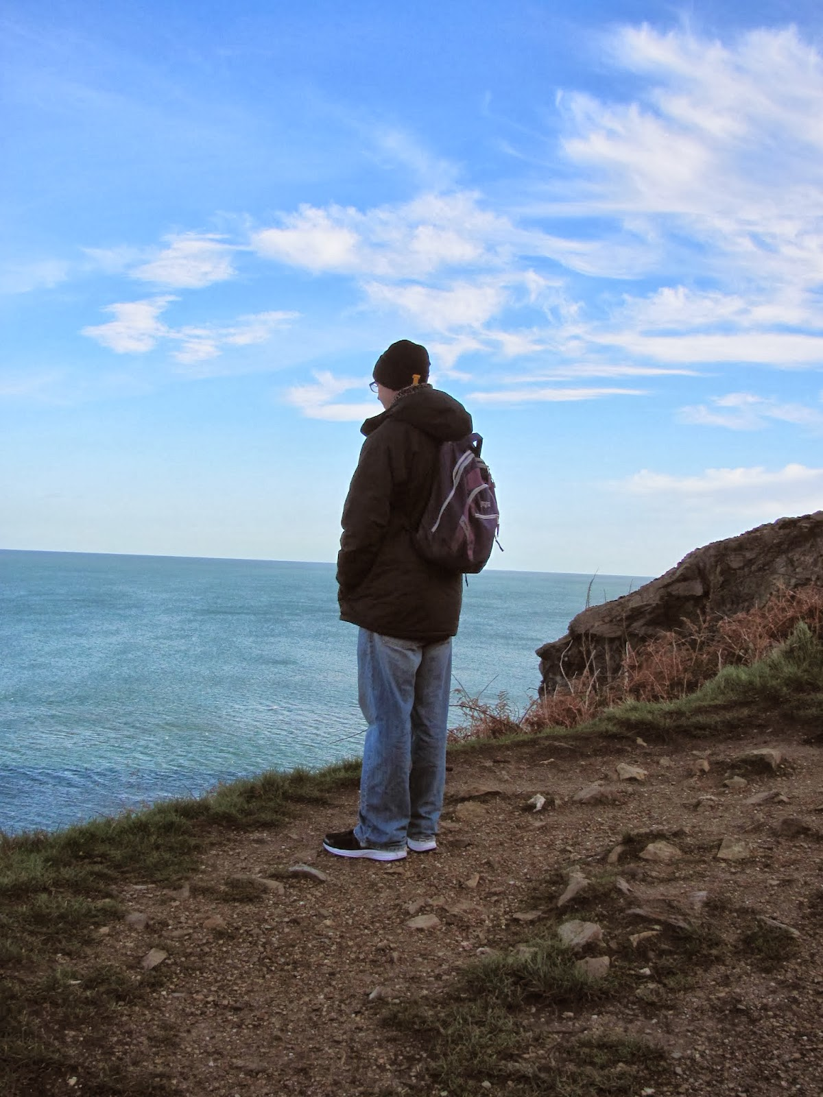 Obligatory Cory-Looking-At-The-Water Photo in Howth, Co. Dublin, Ireland
