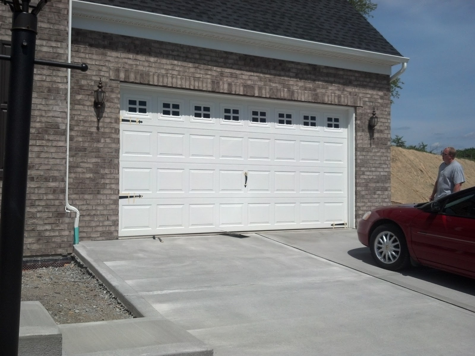 1200 #4F5C63 Savoy Ryan Home : Garage Door Decorative Hardware Dilemma Advice?? picture/photo Lowes Garage Doors Installed 38191600