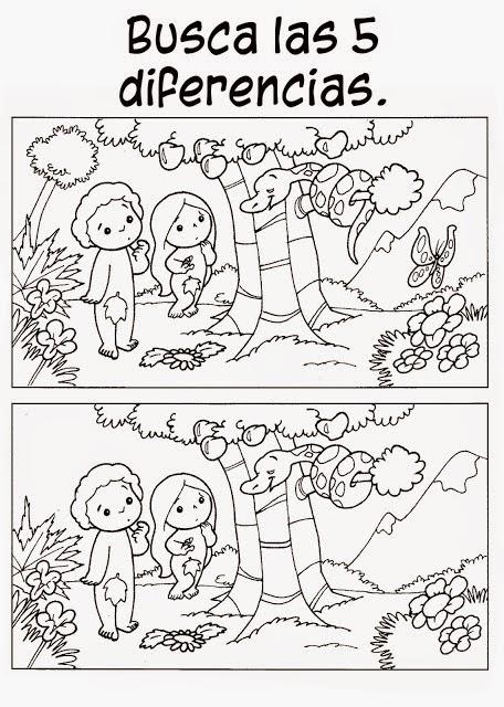 Fichas de la creación para imprimir | Para niños