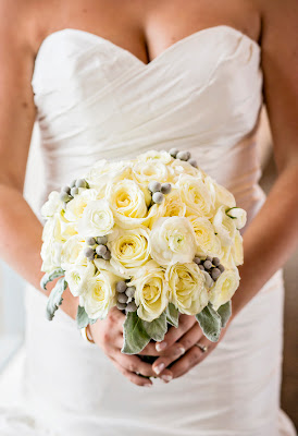 Romantic bridal bouquet by Laurel's Floral Design - Kent Buttars, Seattle Wedding Officiant