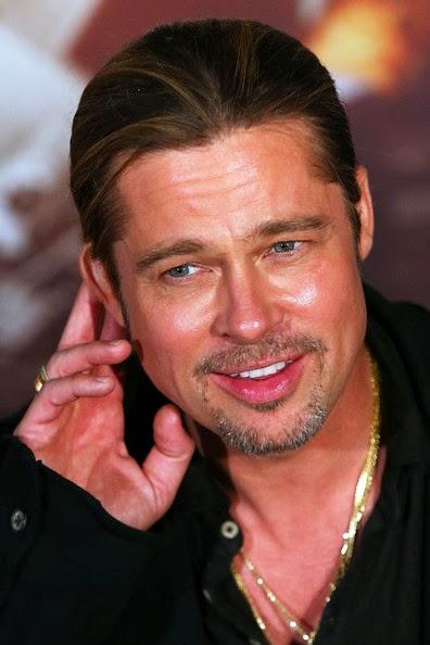 Brad Pitt Ponytail Hairstyle