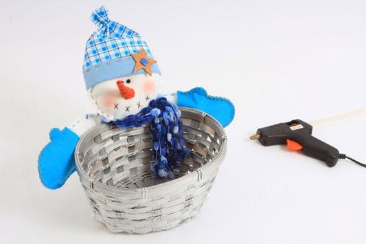 artesanato de natal - cesta de Natal -boneco de natal